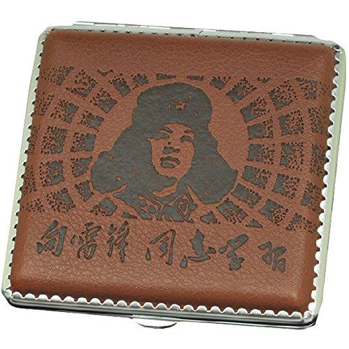 Preisvergleich Produktbild Lei Feng Durable Leder Zigarettenetui Exquisite Cig-Halter-Kasten (Brown)