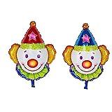 2pcs Grandi Palloncino Pagliaccio Per Parco Di Luna Festa Di Compleanno Di Bambini