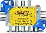 Telestar 5222537 Starswitch 5/8 mini Multischalter (8 Teilnehmern mit Sat-Signalen, DVB-T2 HD/C/DAB+) alu