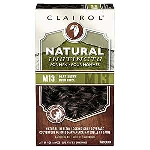 Clairol Natural Instincts Hair Color for Men M13 Dark Brown 1 Kit (Pack of 3)