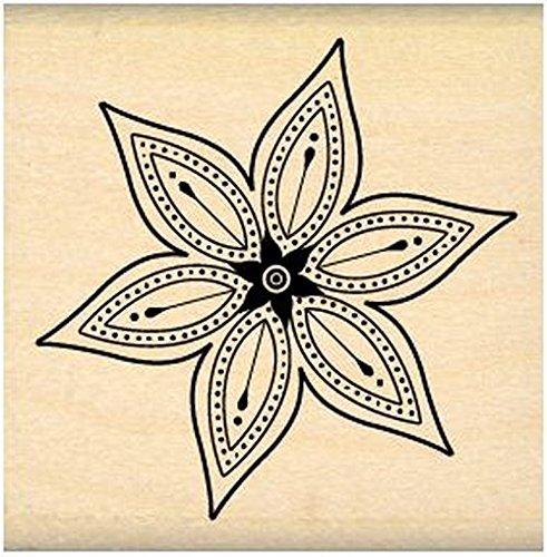 Florilèges Design FD109079Scrapbooking-Stempel, Motiv: Kleine sternförmige Blume, Beige, Maße: 5x5x2,5cm