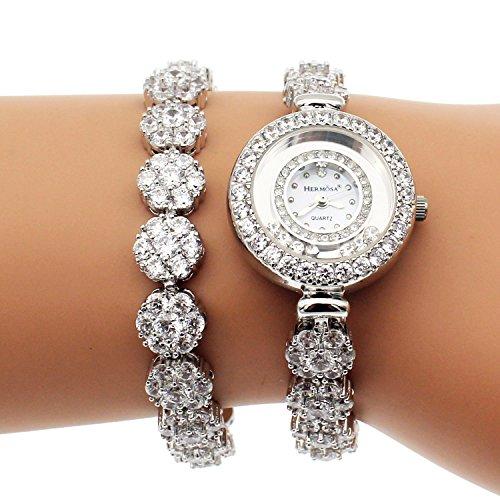 womens-ladies-acciaio-orologi-topazio-bianco-bracciale-con-elegante-orologio-da-polso-h201-portafort