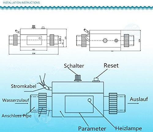GreenSun Poolheizung Pool Heater Wärmepumpe Schwimmbad Heizung ...