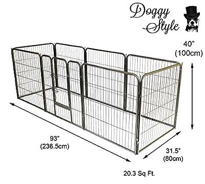 Doggy Style Heavy Duty Puppy Play Pen playpen 8 x panel whelping pen pens x 4 sizes