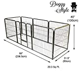 Doggy Style Heavy Duty Puppy Play Pen, Large, Silver, Pack of 8