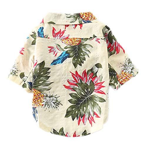 PZSSXDZW Haustierhundekostüm Frühling Mode-Shirt Bequeme Baumwolle Stilvoll und gut aussehend,Beige,S