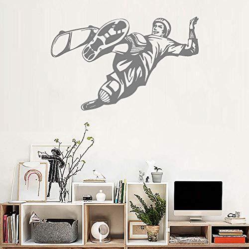 wandaufkleber spruch kind Skateboard-Fahrjungen-Schlafzimmer-Hintergrund-Dekor-Skifahren-Gewohnheits-Farben