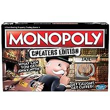 Hasbro Gaming Monopoly Game: Cheaters Edition Gioco da Tavolo da 8 Anni in su, Colore Nero, Taglia Unica, E1871102
