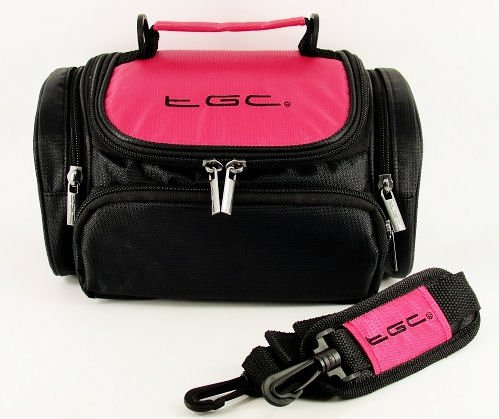 tgc-hot-pink-black-shoulder-camera-case-for-fujifilm-slr-finepix-hs20exr-hs25exr-hs30exr-hs35exr-hs5