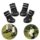 RoyalCare Zapatos para Perros, Botas De Nieve Resistentes Al Agua Y Calientes. Protector De Patas con Suelas Rugosas Antideslizantes Resistentes Al Uso. Adecuadas para Perros Medianos A Grandes(4#)