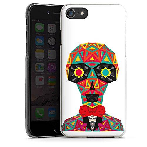 Apple iPhone X Silikon Hülle Case Schutzhülle Geometric Skull Totenkopf Schädel Hard Case transparent