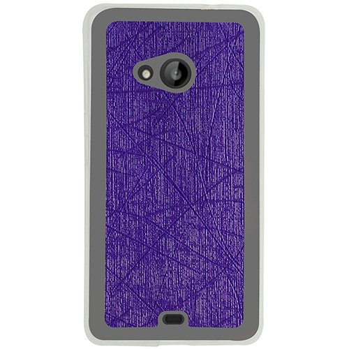 Casotec Retro Style Soft TPU Leather Back Case Cover for Microsoft Lumia 535 - Purple  available at amazon for Rs.109