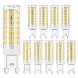 G9 LED Birnen 6W LED Mais Lampe Kein Flimmern Kein Blitz Energiesparende Glühbirnen (10 packs)