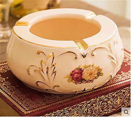 ALILEO Aschenbecher Amerikanische Praktische Europäische Keramik Große Kreative Mode Wohnzimmer Couchtisch Büro Dekoration, D