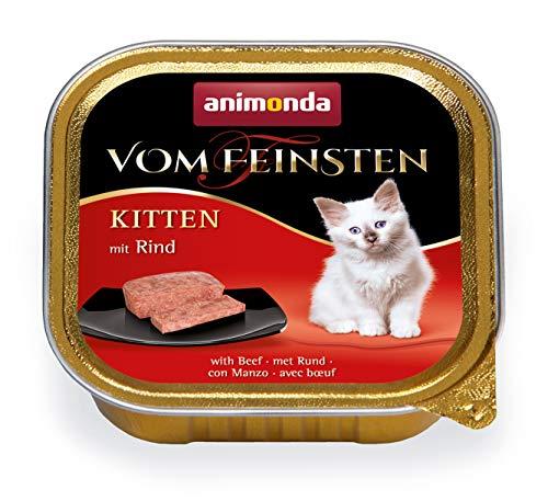 animonda vom Feinsten Kitten Katzenfutter, Nassfutter Katzen bis 1 Jahr, mit Rind, 32 x 100 g