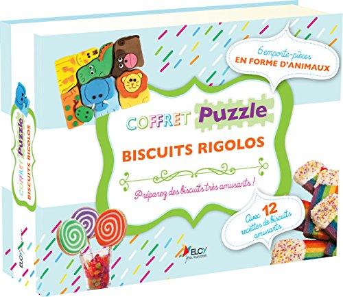 Coffret puzzle biscuits rigolos : Avec emporte-pièces en forme d'animaux