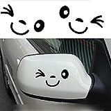 HUAYANG Nettes Lächeln Gesicht 3D Aufkleber Aufkleber für Auto Auto Außenspiegel L + R Rück