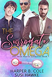 The Surrogate Omega: M/M Non-Shifter Alpha/Omega MPREG (Three Hearts Collection Book 1) (English Edition)