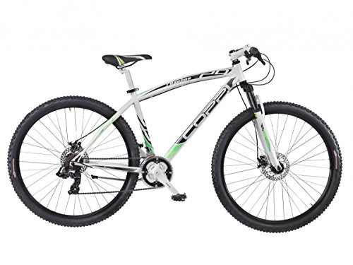 COPPI 29 '/29er Pollici Mountain Bike MTB Dischi Freno Hardtail apos; Reaction '21 della Gang, Bianco-Verde