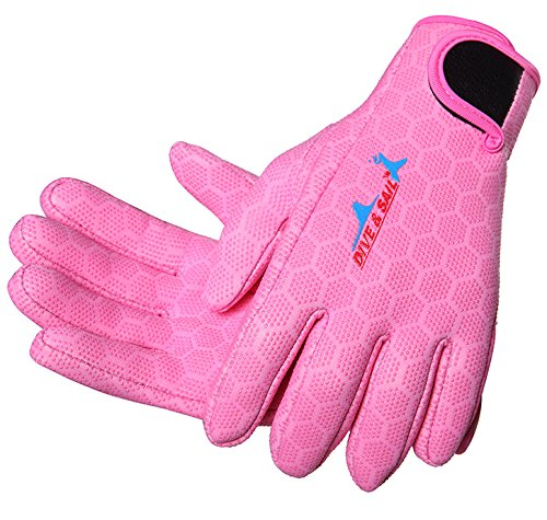 Neoprenhandschuhe Damen Herren 1.5MM Wasserdicht für Tauchen Surf Schnorcheln Neopren Handschuhe Wassersport Tauchhandschuhe
