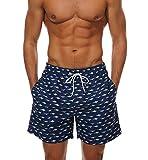 Lecoon Costume da Bagno Uomo Boxer Asciuagatura Rapida Vita Coulisse Regolabile Pantaloncini Sportivi da Bagno Mare Nuoto Spiaggia