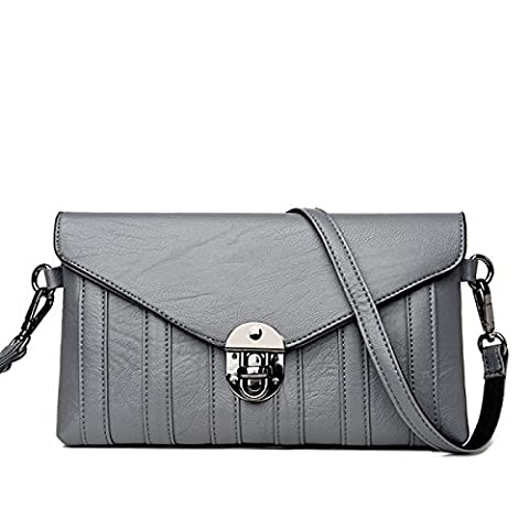 Lady Fashion Lock Envelope Bag Messenger Bag Sac à Main Packet Shoulder Bag,D-25*5*15cm
