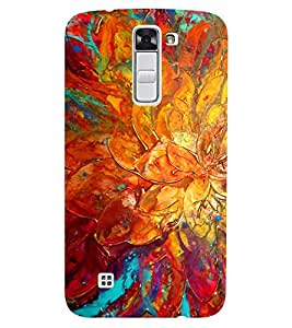 Chiraiyaa Designer Printed Premium Back Cover Case for LG K10 LTE (Painting flower water color) (Multicolor)