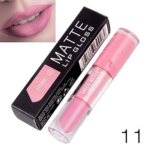 Yazidan Miss Rose Flüssigkeit Lippenstift Feuchtigkeitscreme SAMT Lippenstift Kosmetik Schönheit Bilden Wasserdicht Vampir-Stil Glanz Glänzend Mode Lange andauernd Feuchtigkeitsspendend (#11)