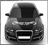 DD 2405_24 dotzler design autocollant pour lunette arrière de voiture motif tribal heart capot cœur-dimensions : 80 x 12 cm-autodekor graz design autocollant pour voiture autocollant de tatouage de voitures