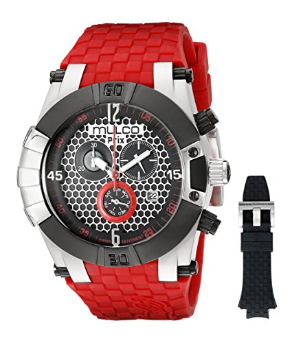MULCO Men's MW5-3068-065 Prix Snap Analog Display Swiss Quartz Red Watch