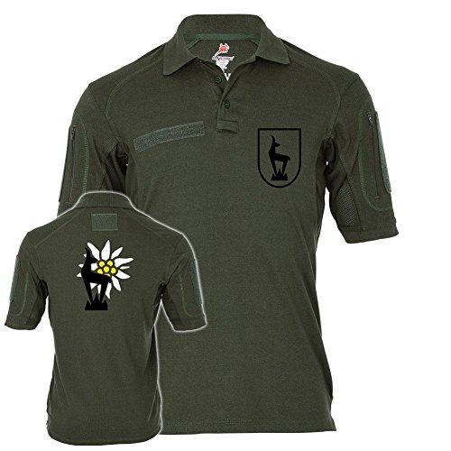 Tactical Poloshirt Alfa - Horrido die Gams Gebirgsjäger Steinbock Jäger Bundeswehr Militär Alpen #19311, Größe:M, Farbe:Oliv