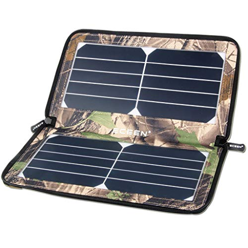 Leeec Outdoor Mobile Waterproof Charger 10w Portable Waterproof Folding Solar Charger for Travel Hiking (schwarz/Camouflage),Brown 10w Folding Solar Charger