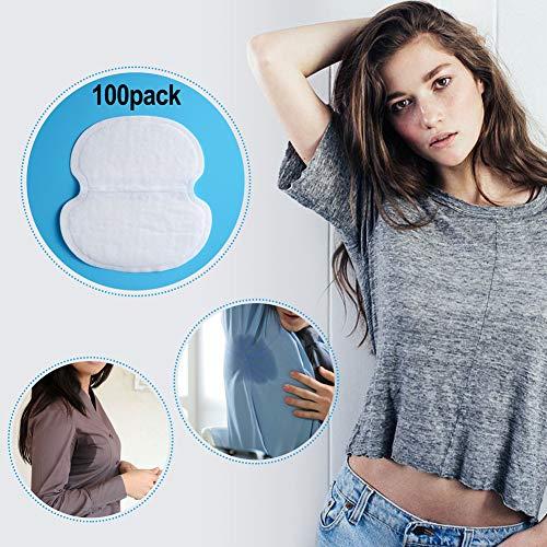Unterarm-Schweißpads, PChero 100 PCS (50 Paare) Premium-Qualität Einweg-absorbierende Unterarm-Kleid-Schilder für Frauen Männer -