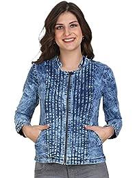 Lady Bird Women Denim Badal Printex Chain Full Sleeves Jacket