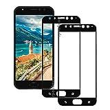[2 Pack] Pour Asus ZenFone 4 Selfie Pro ZD552KL Protection écran Film (Noir), Protection en Verre Trempé Ultra Résistant pour Asus ZenFone 4 Selfie Pro ZD552KL Dureté 9H Glass HD Ultra transparente