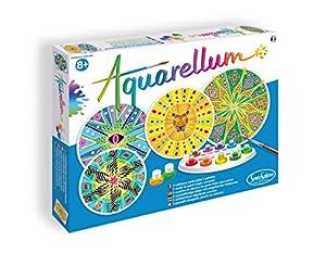 Sentosphère Fun Frag 676  - Aquarellum Mandalas África, páginas para Colorear para Colorear Juego de 4