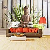 Fototapete Buddha und sauna Vlies Tapete Wandtapete M 250 x 175 cm - 5 Teile - Vlies - Tapete - Moderne Wanddeko - Wandbilder - Fotogeschenke - Wand Dekoration wandmotiv24 Größe: