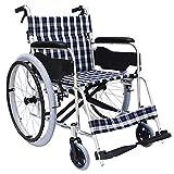 Rollstuhl-leichte Faltende Transport-Reise-tragbare Ältere Behinderte Aluminiumlegierungs-manuelles Rollstuhlhaus Mit Handbremse (Style : A)