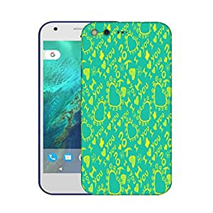 Snoogg Yellow I Love You Designer Protective Phone Back Case Cover For Google Pixel