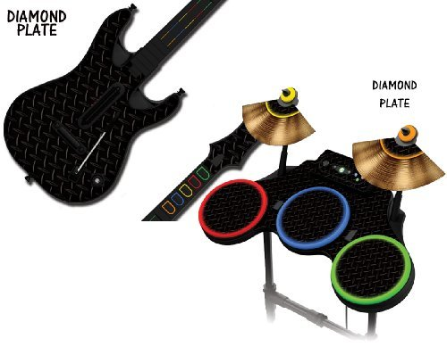 protective-skins-for-guitar-hero-4-world-tour-guitar-and-drum-set-fits-xbox-360-ps3-ps2-diamond-plat