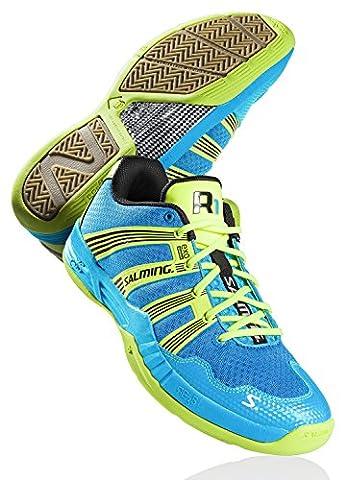 Salming , Chaussures de handball pour homme Jaune Jaune, Color- Blue/Yellow, Size- 12.5 UK