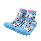 dkDaKanl Toddler Baby Soft Rubber Bottom Non-Slip Floor Socks Boots First Walking Shoes with Non-Slip Rubber Sole (About 13 cm)