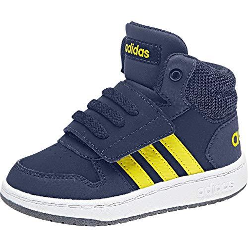 huge discount 728ec 5463b Adidas Hoops Mid 2.0, Scarpe da Ginnastica Basse Unisex-Bimbi, Blu Dkblue