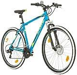 BIKE SPORT LIVE ACTIVE 29 Zoll Bikesport Thunder Herren Fahrrad MTB Mountainbike Hardtail Shimano 21 Gang (Blau matt, L)