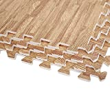Greenbay Interlocking EVA Foam Mats Kids Play Gym House Exercise Floor Mat Light Wood Grain