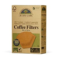 If You Care Unbleached Coffee Filters, #4 cone, 100 count.