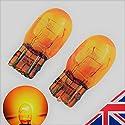2x Bernstein orange T207443580W21/5W DRL Seite Halogen Scheinwerfer Leuchtmittel 6000K (Paar)