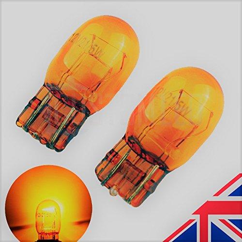 Preisvergleich Produktbild 2x Bernstein orange T207443580W21/5W DRL Seite Halogen Scheinwerfer Leuchtmittel 6000K (Paar)