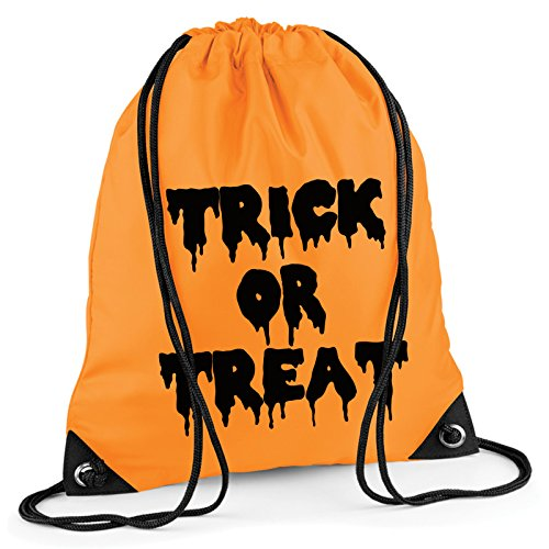 Trick Or Treat Halloween Kordelzug Tasche Rucksack Wasserdicht Sweet Turnbeutel PE Duffle Schule Kinder Jungen Mädchen Zug Sack, (Jungen Und Schule Kostüm Mädchen)