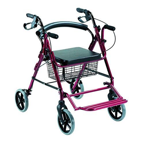 Andador rollator y silla de ruedas